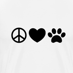 Peace, Love, Rescue - Men's Premium T-Shirt