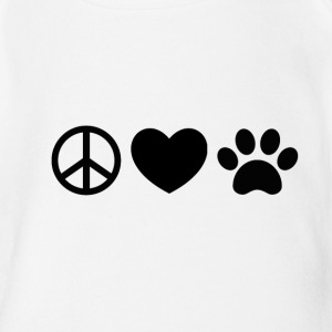 Peace, Love, Rescue - Short Sleeve Baby Bodysuit