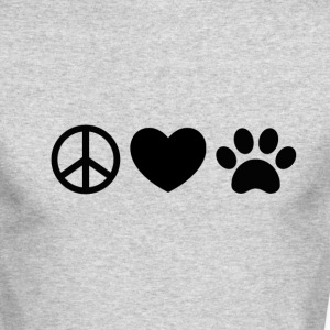 Peace, Love, Rescue - Men's Long Sleeve T-Shirt by Next Level