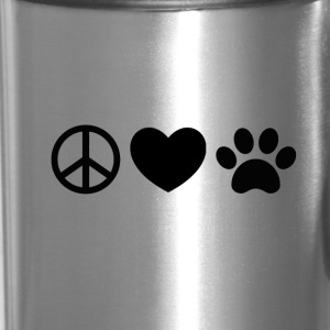 Peace, Love, Rescue - Travel Mug