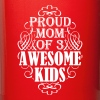 Proud mom of three awesome kids - Full Color Mug