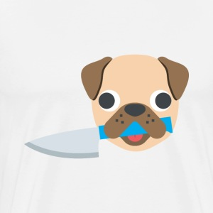 PUG WITH A KNIFE - Men's Premium T-Shirt