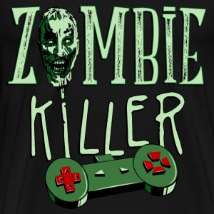zombie_killer_gamer_03201602 T-Shirts - Men's Premium T-Shirt