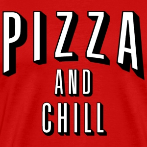 pizza and chill - Men's Premium T-Shirt