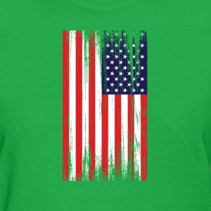 american flag distressed Women's T-Shirts - Women's T-Shirt