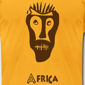 African mask - Men's T-Shirt by American Apparel