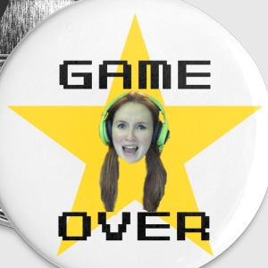 It's Game Over Emuhleigh Buttons - Large Buttons