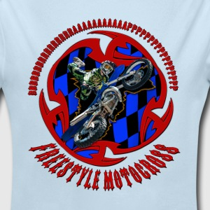 Freestyle motocross rider - Long Sleeve Baby Bodysuit