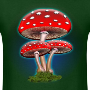 Red Mushrooms - Men's T-Shirt