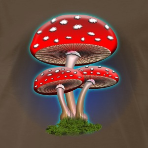 Red Mushrooms - Men's Premium T-Shirt