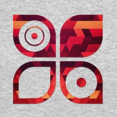 Abstract Minimal Geometrie Hipster Kunst (Rot Gold Long Sleeve Shirts