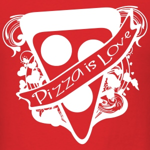 Pizza is Love T-Shirts - Men's T-Shirt