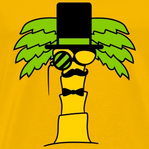mr sir gentlemen man mustache fly cylindrical mono T-Shirts - Men's Premium T-Shirt
