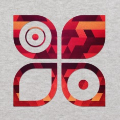 Abstract Minimal Geometrie Hipster Kunst (Rot Gold Sweatshirts