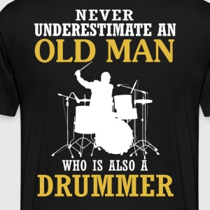 Old Man - A Drummer - Men's Premium T-Shirt