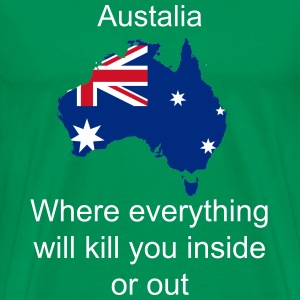 Australia in a nutshell without silly text - Men's Premium T-Shirt