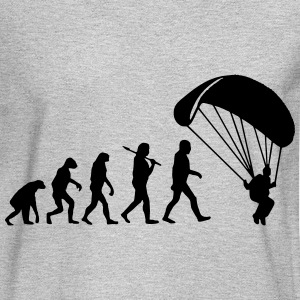 Evolution Parachute Jumping Long Sleeve Shirts - Men's Long Sleeve T-Shirt