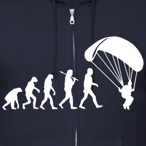 Evolution Parachute Jumping Zip Hoodies & Jackets - Men's Zip Hoodie