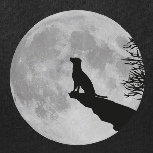 full moon dog werewolf wolf howl labrador pup Bags & backpacks - Tote Bag