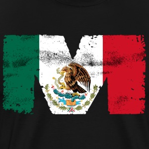 Mexican Mexico Flag M Is For Mexican - Men's Premium T-Shirt