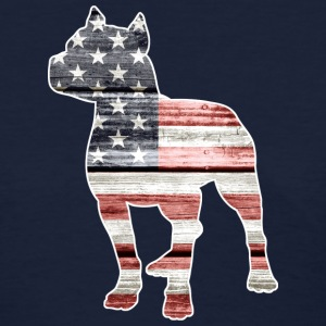 Patriotic Pitbull, American Flag - Women's T-Shirt