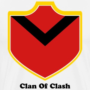 Clash With Your Clan Shield -04 T-Shirts - Men's Premium T-Shirt