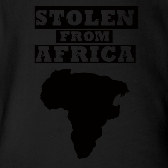 Stolen From Africa Baby Long Sleeve One Piece (Black Logo)