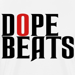 DOPE BEATS WHITE TSHIRT - Men's Premium T-Shirt