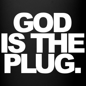 God is the plug Mugs & Drinkware - Full Color Mug