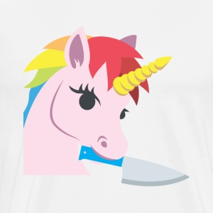 UNICORN WITH A KNIFE - Men's Premium T-Shirt