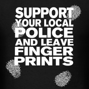 Support your Police Finge T-Shirts - Men's T-Shirt