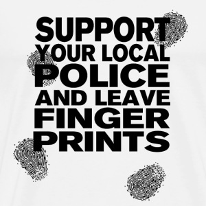 Support your Police Finge T-Shirts - Men's Premium T-Shirt