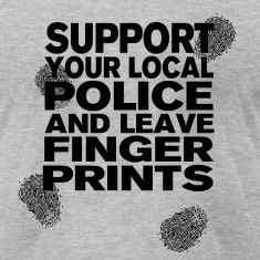 Support your Police Finge T-Shirts