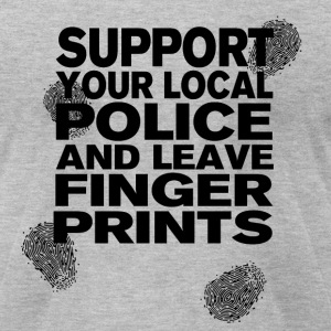 Support your Police Finge T-Shirts - Men's T-Shirt by American Apparel