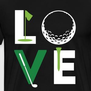 Golfer Love Golf T Shirt T-Shirts - Men's Premium T-Shirt