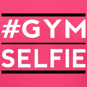 gym selfie Women's T-Shirts - Women's V-Neck T-Shirt