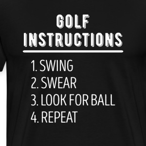 Golf Instructions Golfer T Shirt T-Shirts - Men's Premium T-Shirt