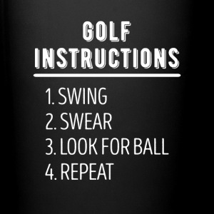 Golf Instructions Golfer T Shirt Mugs & Drinkware - Full Color Mug