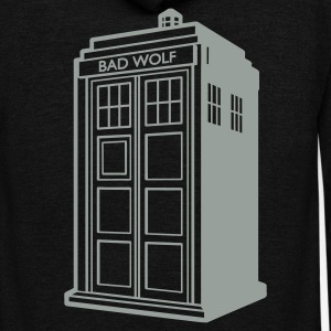 tardis badwolf  - Unisex Fleece Zip Hoodie by American Apparel