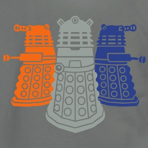 daleks 3 colors - Unisex Fleece Zip Hoodie by American Apparel