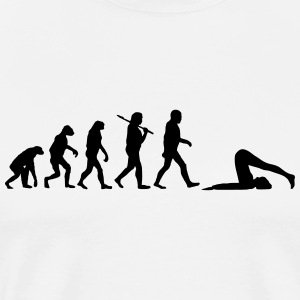 evolution of yoga T-Shirts - Men's Premium T-Shirt