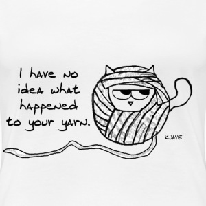 The Cat Loves to Steal Yarn - Women's Premium T-Shirt
