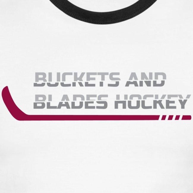 Buckets and Blades Hockey-Men's Ringer Tee
