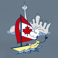Design ~ Mens Funny Sailing in Toronto T Shirt