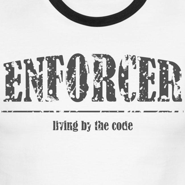 Enforcer-Living by the Code-Men's Ringer Tee