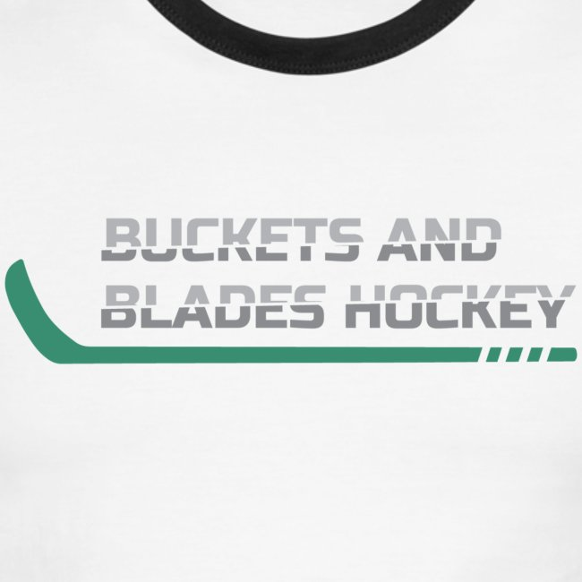 Buckets and Blades hockey-Men's Ringer Tee