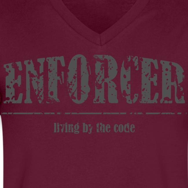 Enforcer-Living by the Code-Men's V-Neck Tee