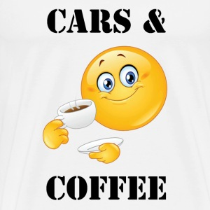 Cars & Coffee Emoji  - Men's Premium T-Shirt