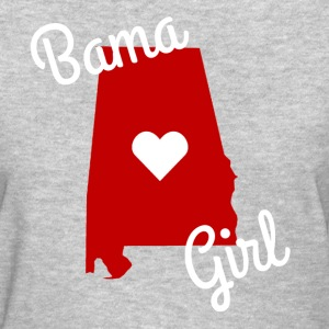Bama Girl Heart Women's T-Shirts - Women's T-Shirt