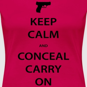 Premium Women's Keep Calm Conceal Carry, Black - Women's Premium T-Shirt